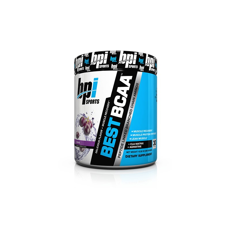 BPI Sports Best BCAA Powder, Grape - 10.58 Ounce