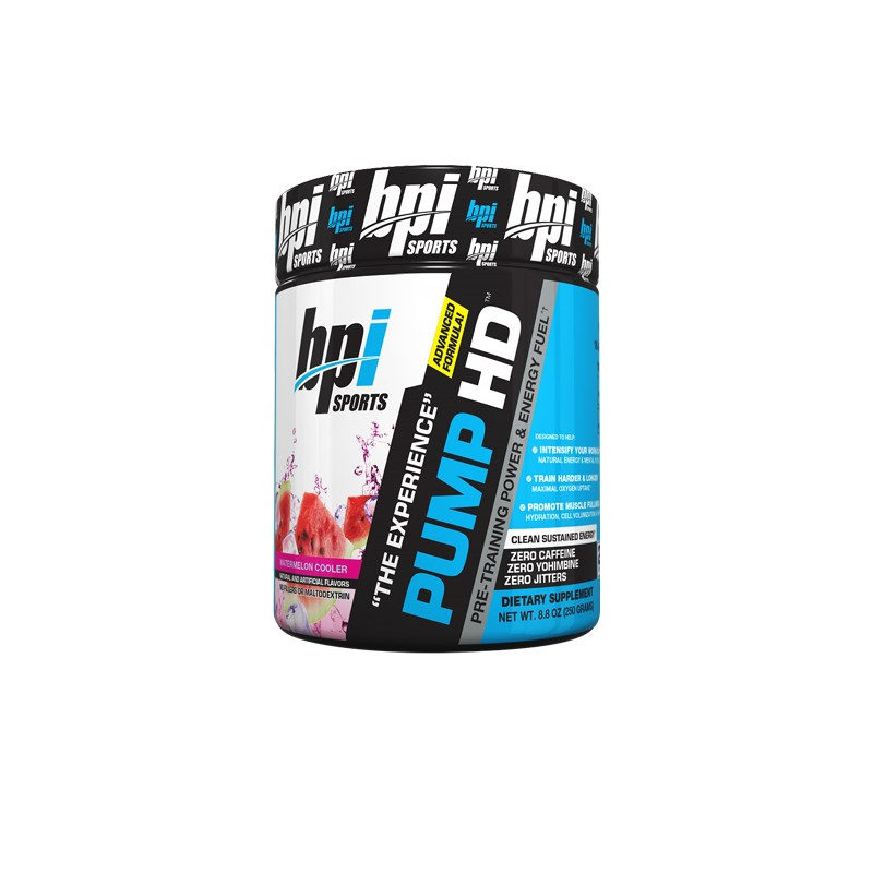 BPI Sports Pre-Training Power and Energy Fuel Powder, Watermelon Cooler - 8.8 Ounce