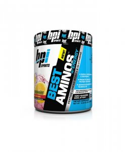 BPI Sports Best Aminos with Energy Peptide Linked BCAAs and Glutamine, Red Lemonade - 10.58 Ounce