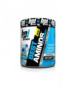 BPI Sports Best Aminos with Energy Peptide Linked BCAAs and Glutamine Supplement, Icy Blue Raz - 10.58 Ounce