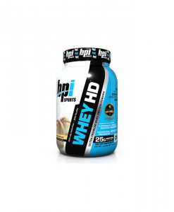 BPI Sports Whey-HD Ultra Premium Whey Protein Powder, Vanilla Caramel - 2 Pound