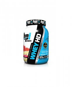 BPI Sports Whey-HD Ultra Premium Whey Protein Powder, Strawberry Cake - 2 Pound