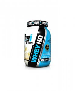 BPI Sports Whey-HD Ultra Premium Whey Protein Powder, Banana Marshmallow - 2 Pound
