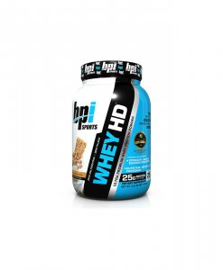 BPI Sports Whey-HD Ultra Premium Whey Protein Powder, Granola Crunch - 2 Pound