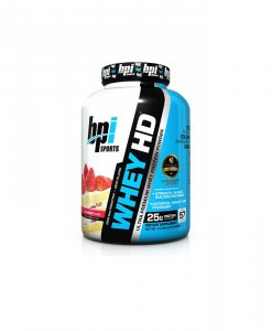 BPI Sports Whey-HD Ultra Premium Whey Protein Powder, Strawberry Cake - 4.5 Pound
