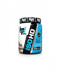 BPI Sports ISO HD Whey Protein Isolate and Hydrolysate, Cookies and Cream - 1.6 Pound