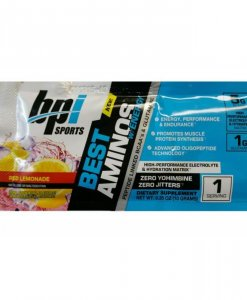BPI Sports Best Aminos with Energy Peptide Linked BCAAs and Glutamine, Red Lemonade - Single Serving