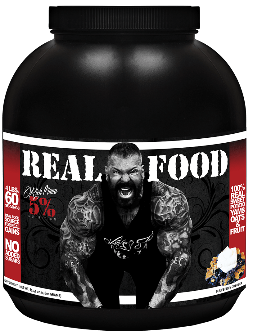 Rich Piana 5% Nutrition Real Food 60 Servings - SupVault